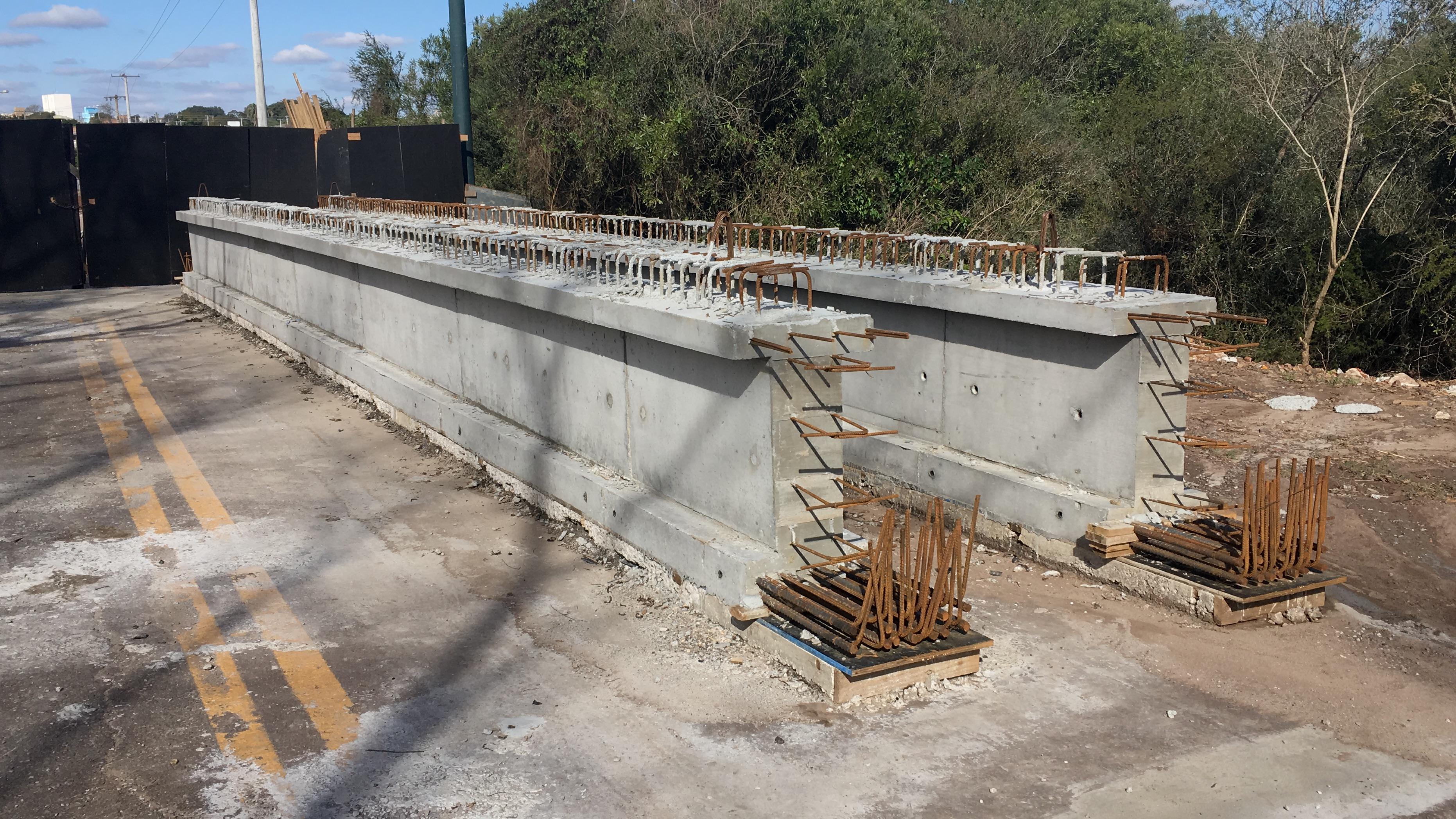 Ponte sobre Arroio Passo Fundo - Vigas